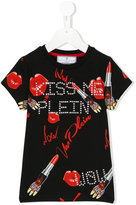 Philipp Plein Kiss Me print T-shirt - kids - Cotton/Spandex/Elastane - 8 yrs