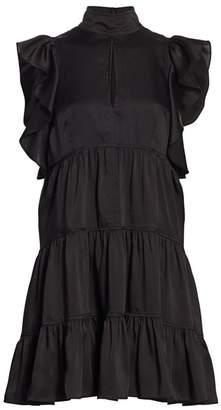 Cinq à Sept Rebecca Ruffled A-Line Dress