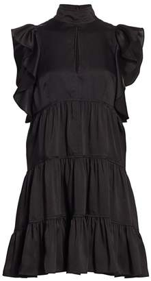 Cinq à Sept Rebecca Ruffled Babydoll Dress