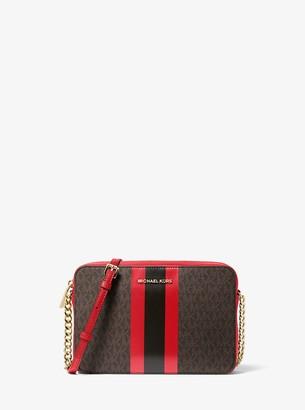 MICHAEL Michael Kors Jet Set Logo Stripe Crossbody Bag