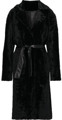 Drome Belted Reversible Shearling Coat