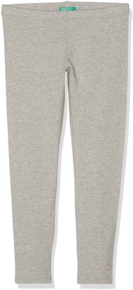 Benetton Girl's Leggings Grey (Grigio Melange 501) 2Y 90cm(2 Years )