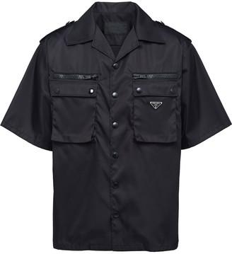 Prada military style bowling shirt