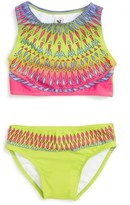 Infant Girl's Limeapple Talula Geometric Two-Piece Swimsuit