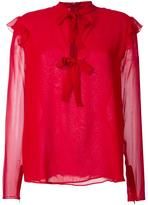 Giambattista Valli lace up blouse - women - Silk - 40