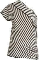 Diane von Furstenberg One-shoulder silk crepe de Chine top
