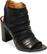 Madden-Girl Halo Peep-Toe Block-Heel Booties