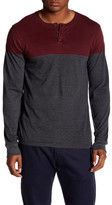 Micros Zapp Long Sleeve Printed Henley Shirt