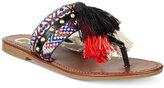 Circus by Sam Edelman Brice Embellished Fringe Thong Sandals