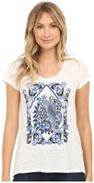 Lucky Brand Embroidered Bird Top