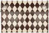 Wales Bonner Off-White and Brown Chapal Edition Diamond Wallet