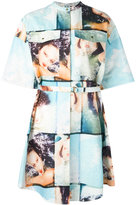 Kenzo Donna Jordan shirt dress - women - Cotton/Polyester - 36