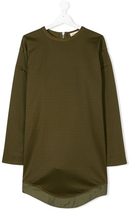 Andorine Loose-Fit Contrasting-Hem Dress