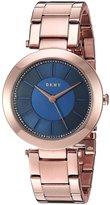 DKNY Women's 36mm Rose Gold-Tone Steel Bracelet & Case Quartz Watch Ny2575