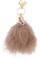 Sophie Hulme Taupe Ethel Feather Keychain