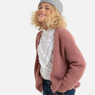 La Redoute Collections Chunky Knit Cardigan, 3-12 Years