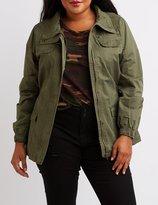 Charlotte Russe Plus Size Utility Anorak Jacket