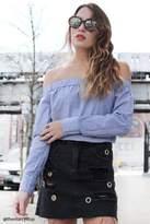 Forever 21 FOREVER 21+ Distressed Grommet Mini Skirt