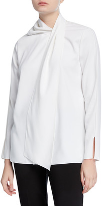 Piazza Sempione Wrapped Long-Sleeve Blouse