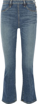 Elizabeth and James Nerd Cropped Mid-rise Flared Jeans - Mid denim