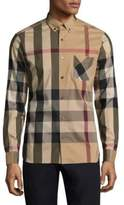 Burberry Thornaby Check Casual Button-Down Shirt