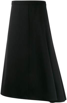 Jil Sander Asymmetric Flared Midi Skirt