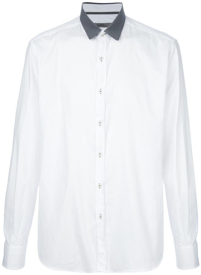 Karl Lagerfeld Lagerfeld contrasting collar shirt