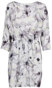 Nümph Cloud Dancer Bylgja Dress - 34 - Black/Grey/White