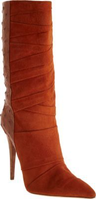 Narciso Rodriguez Ostrich Combo Boot