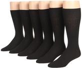Ecco Socks - Dress Wool Rib Midcalf 6-Pack Men's Crew Cut Socks Shoes