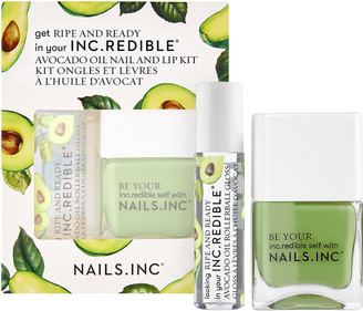Nails Inc Ripe and Ready Avocado Oil Nail and Lip Kit