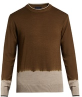 Lanvin Dégradé Crew-neck Merino-wool Sweater
