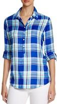 Prive Plaid Half Placket Shirt