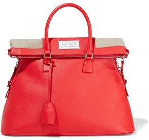 Maison Margiela 5ac Textured-leather And Canvas Tote