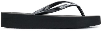 Emporio Armani Platform Flip-Flop Sandals