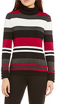 Investments Striped Turtleneck Sweater