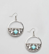 Reclaimed Vintage Inspired Turquoise Stone Earrings