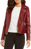 Gianni Bini Jordan Moto Genuine Leather Jacket