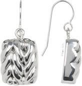 Simon Sebbag Sterling Silver Mini Braided Square Drop Earrings