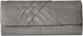 Jessica McClintock Addison Glitter Flap Clutch