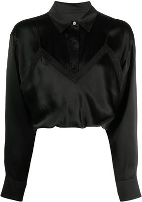 alexanderwang.t Long-Sleeved Layered Silk Shirt