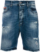 Frankie Morello stonewashed shorts