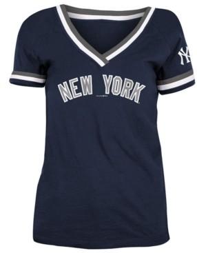 5th & Ocean New York Yankees Women's Contrast Binding T-Shirt