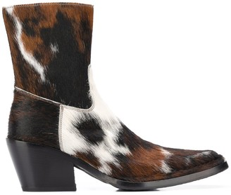 Acne Studios Calf Hair Cowboy Boots