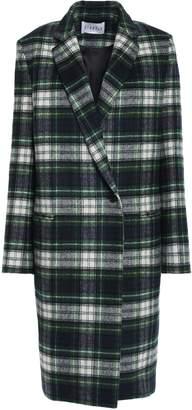 Claudie Pierlot Gold Checked Wool-blend Felt Coat