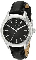 Nautica Women's NAD11003M NCT 18 MID Analog Display Quartz Black Watch