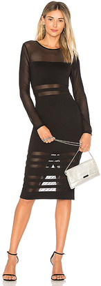 superdown Magdalena Mesh Midi Dress
