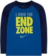 "Nike Boys 4-7 Dri-FIT ""I Own The End Zone"" Raglan Tee"