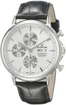 Edox Men's 01120 3 AIN Les Bemonts Analog Display Swiss Automatic Black Watch