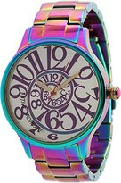 Betsey Johnson Women's BJ00040-11 Analog Rainbow Stainless Steel Case and Bracelet Watch